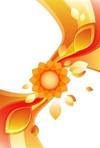 Abstract flower vector background free vector