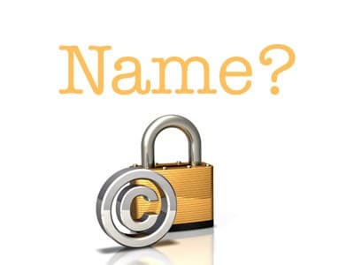name photo > Do i need to write the name next to the photo i use?