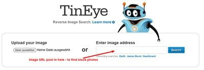 Tineye screen op internet gevonden foto