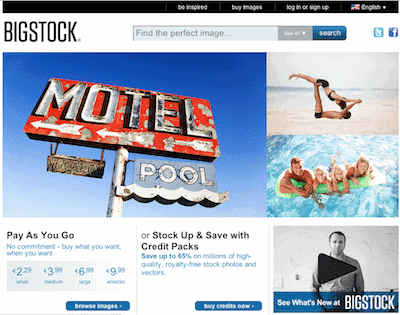 Bigstock Screenshot