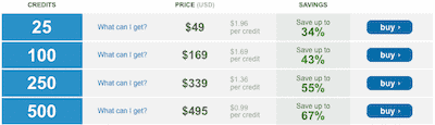 Bigstock Credit Packages