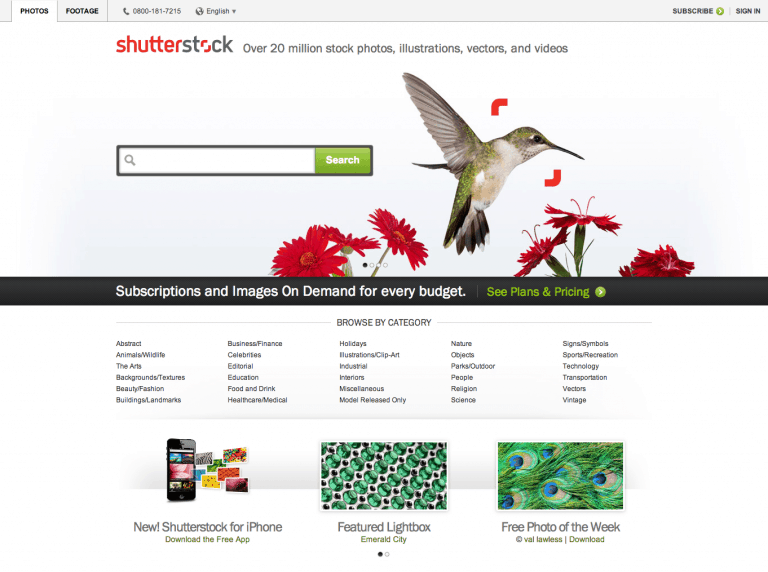 Shutterstock Screenshot