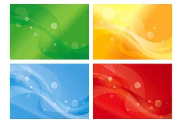 bg3 web > Free vector - Set of Four Variants of Abstract Color Backgrounds