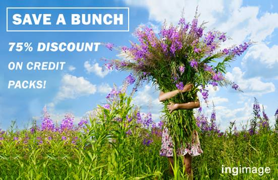 ingimage save bunch > Exclusive Deal: Save 75% on 20 High Res Credits at Ingimage