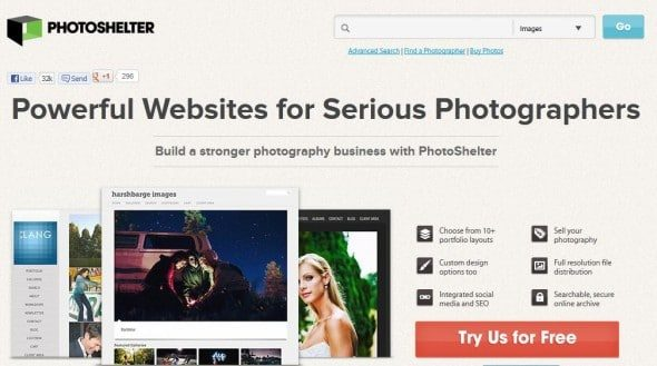 photoshelter is a website building and marketing hub for photographers
