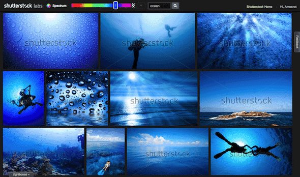 Spectrum Shutterstock Labs Ocean > Shutterstock launches Spectrum - an innovative search option