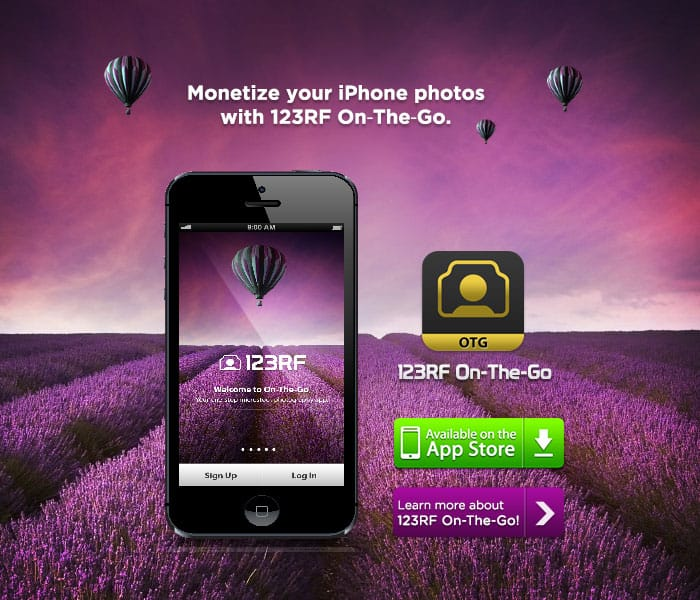 otg 700 > New mobile app from 123rf that lets you make more money (UPDATE)
