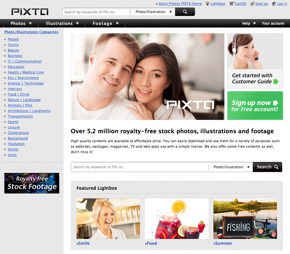 Pixta Screenshot