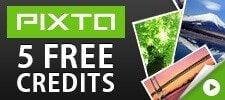 Get 5 free credits at Pixta!