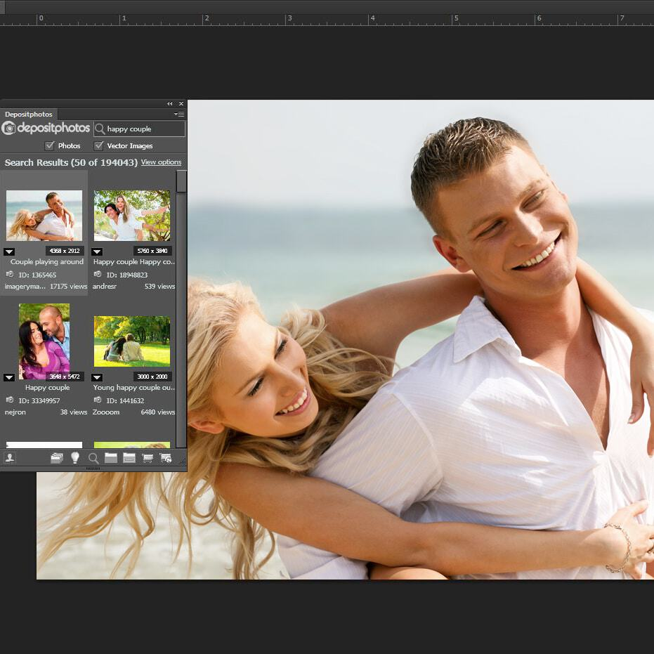 > Depositphotos publishes free Adobe Extension