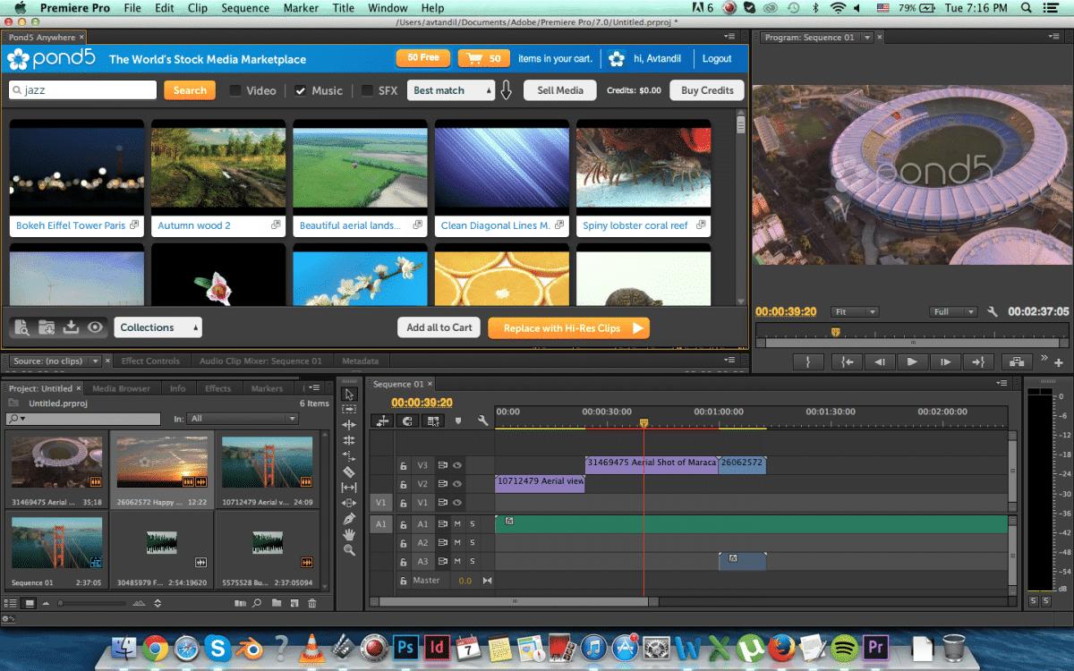 Pond5 Plugin for Adobe Premiere Pro