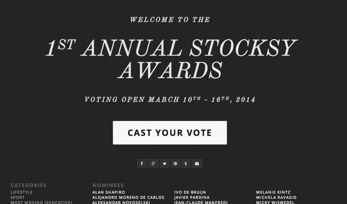 Screen Shot 2014 03 13 at 7.25.55 AM > Stocksy celebrates anniversary with first annual awards