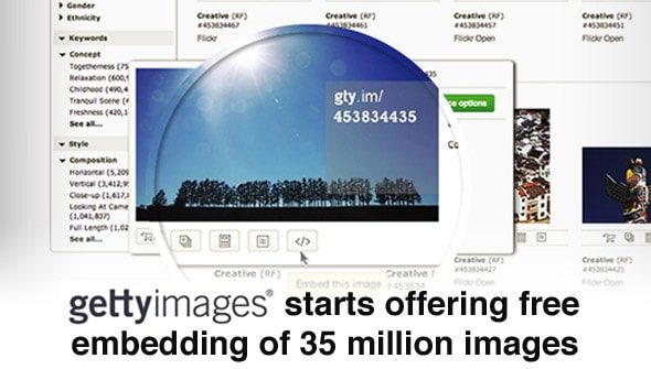 getty images free photos > Getty Images starts offering free embedding of 35 million images