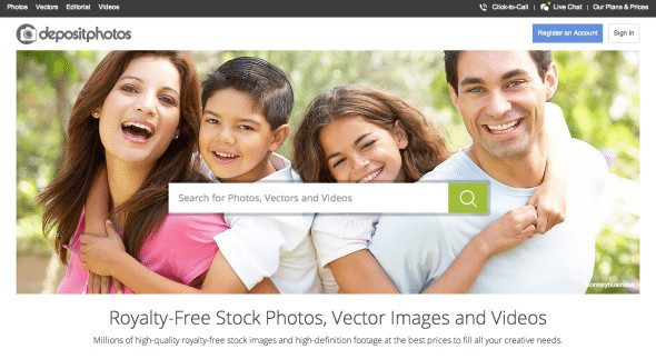 New website launched by Depositphotos