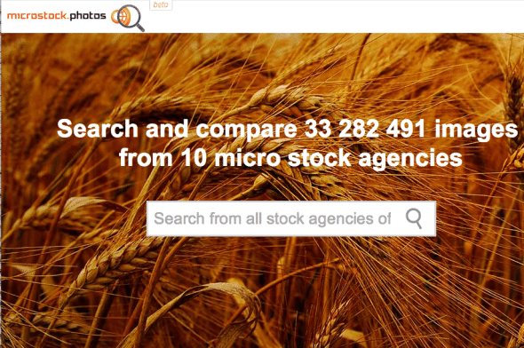 microstock.photos is an engine searching for images across agencies