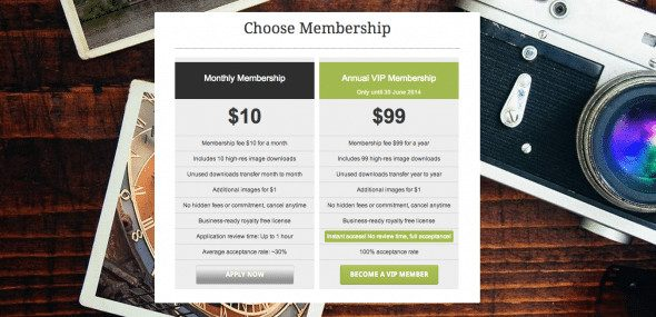 DollarPhotoClub Prices and Membership Types