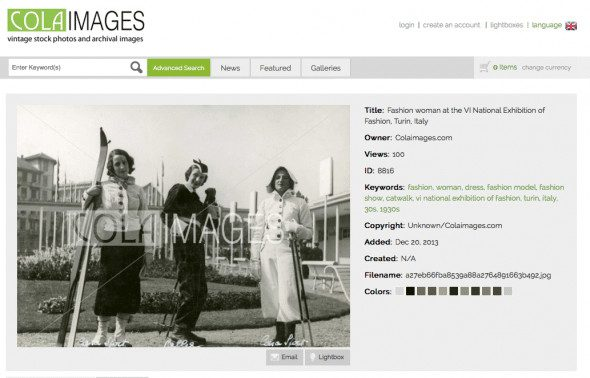 Vintage Stock Images with Keywords to find them in Colaimages.com