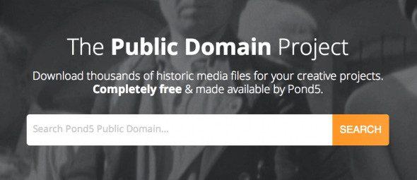 Pond5 Public Domain Project