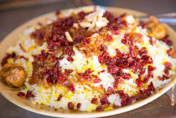 Berry Palov, traditional persian food at Britannia and Company, Parsi and Iranian restaurant in Mumbai, India