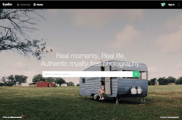 eyeem market search > EyeEm Market goes live - in the US at first