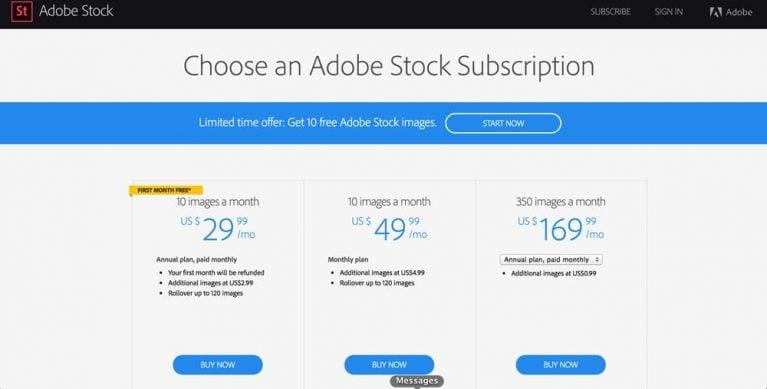 Adobe Stock, Adobe Stock Free, free trial, Adobe Stock Pricing