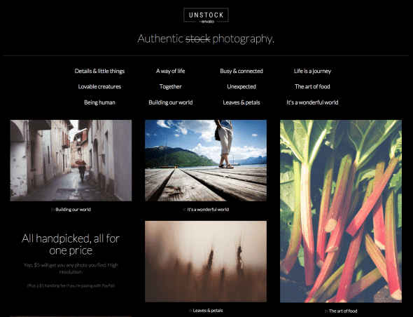 Envato Unstock features authentic images