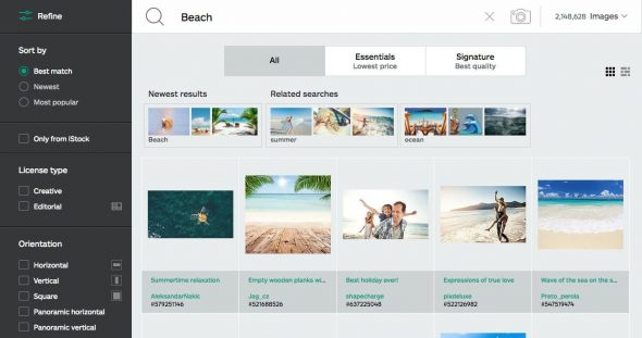 iStock Advanced Search > iStockphoto Review (now iStock)