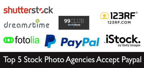 top 5 Stock Photo Agencies 1 > Which Top 5 Stock Photo Agencies accept Paypal?