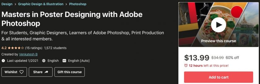 udemy poster design with photoshop course > What photo size do I need to print on a poster?