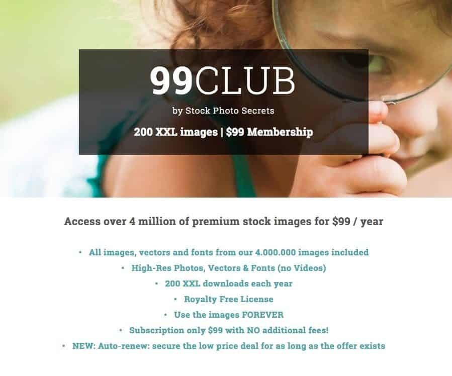 SPS 99club Landing Page > StockPhotoSecrets Special Rebate Code Will Make You Save Money!