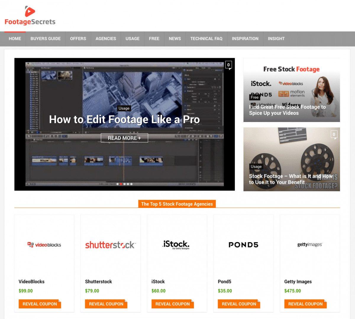 Footage Secrets Homepage