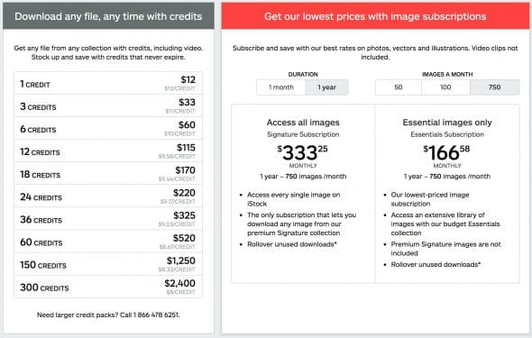 iStock Pricing 2017 > iStock reduces Collections and changes Prices for better (UPDATE)