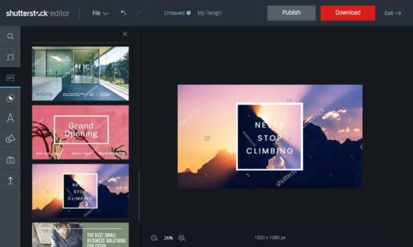 Shutterstock Editor's Design Templates