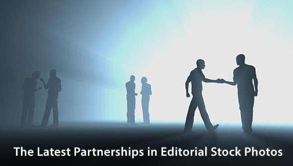 The Latest Partnerships in Editorial Stock Photos