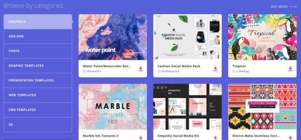 Envato Elements Graphic Assets 1 > Envato Elements Review! An Unlimited Downloads Service for Creatives