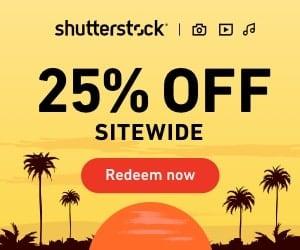 Shutterstock - 25% Off