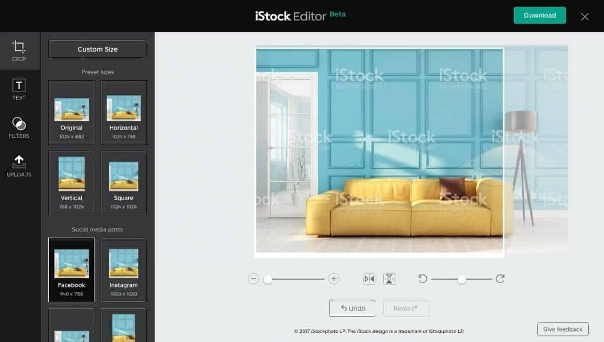 iStock Editor Screenshot > Discover iStock Editor - iStock's New Simple Design Tool!