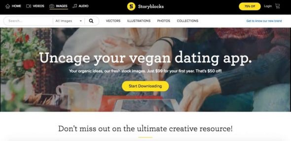 Storyblocks Homepage 1024x495 > Unlimited Stock Photos: Top 4 Agencies to Get Unlimited Downloads Cheap