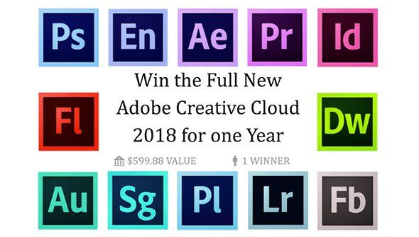 win cc 2018 > Win 1 Whole Year Of Adobe Creative Cloud For Free! Enter our Giveaway Now!