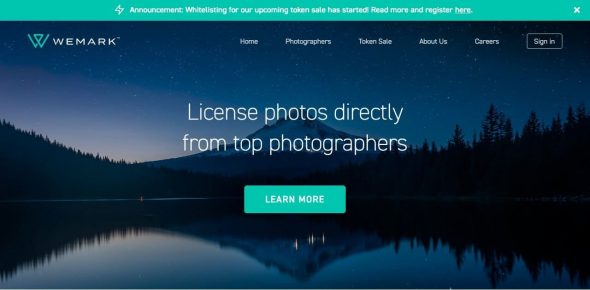 Wemark Homepage > Meet Wemark, An Innovative Company Trying to Bring Blockchain to Stock Photos