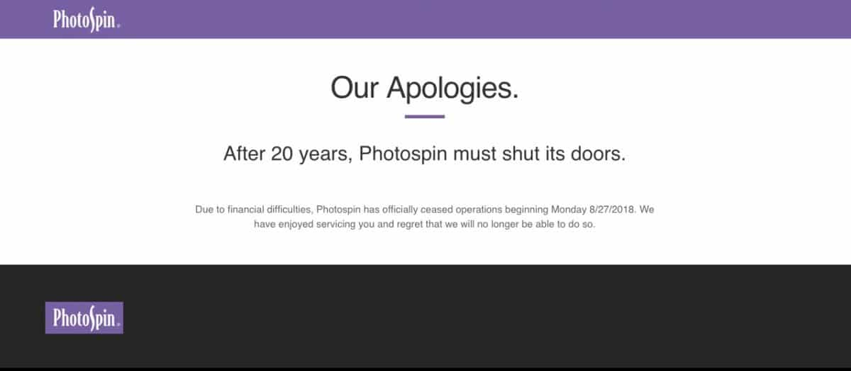 Photospin Closing Homepage > Photospin Closed! Find 6 Great Photospin Alternatives