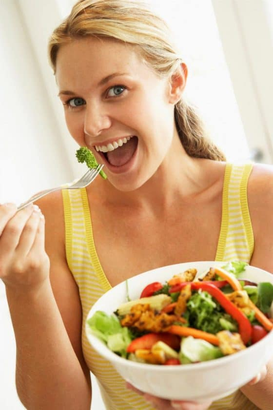 Woman Laughing Alone with Salad original SPS > Stock Photo Memes - The Origins of Your Funny Photo Meme