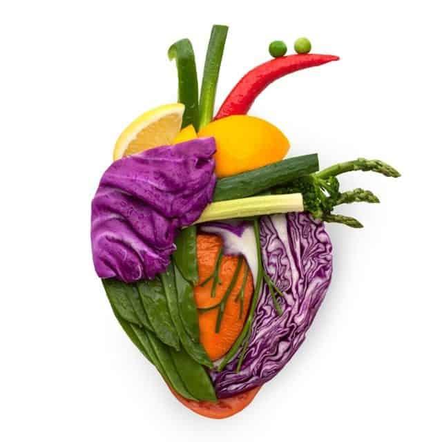 Human Heart Fruits Vegetables
