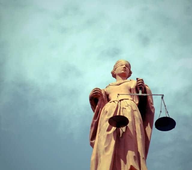 Statue Justice Blue Sky