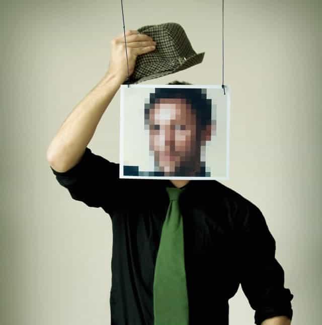 Stylish Man Pixelated Face Hat