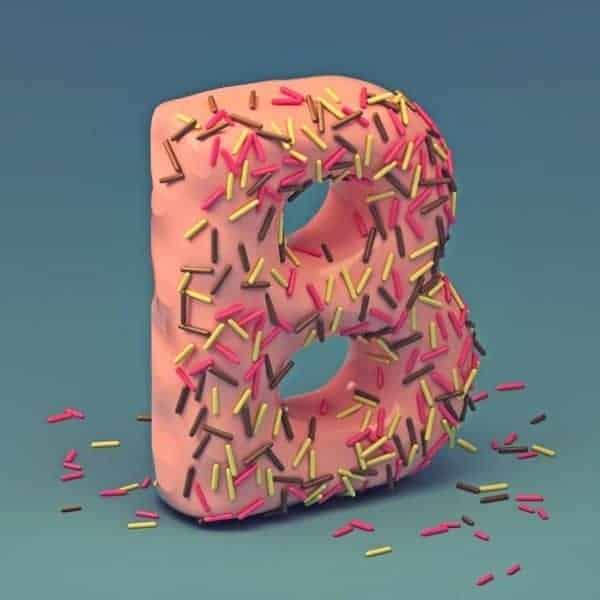 3D Cake Font Letter