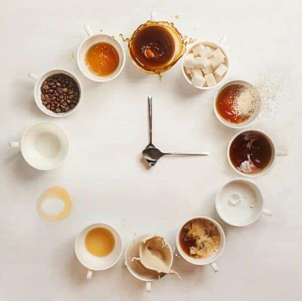 Abstract Clock Coffee Cups