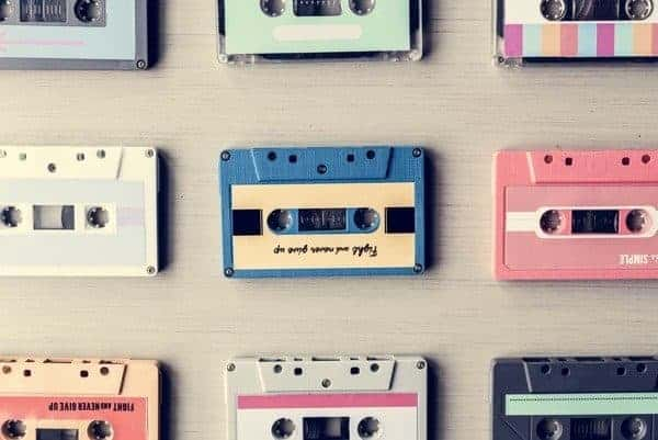 Cassette Tape Vintage Set Collection