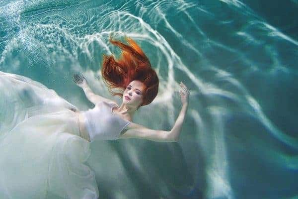 Underwater Girl White Dress