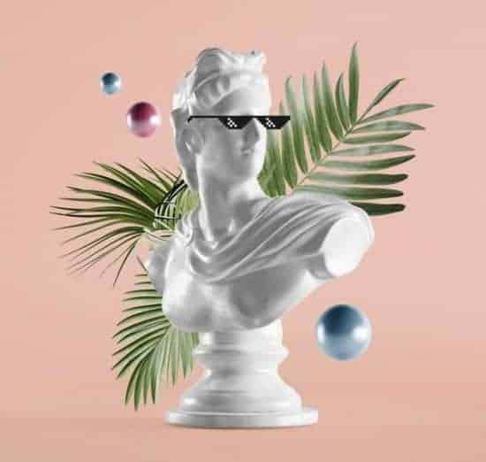 Renaissance Statue Palm Leaves Sunglasses